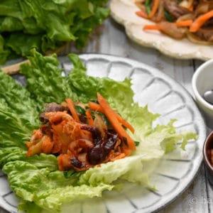グリーンリーフで包むプルコギ!野菜がたっぷり食べられるレシピ