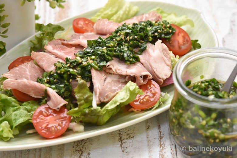 豚肉のニラソース