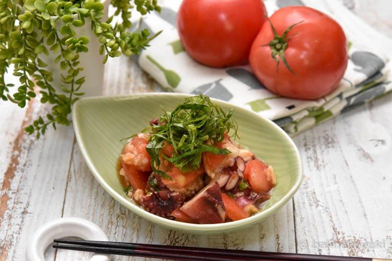 トマトとタコの中華風おろし和え