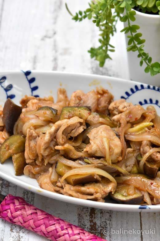 豚肉とナスの麻辣風炒め