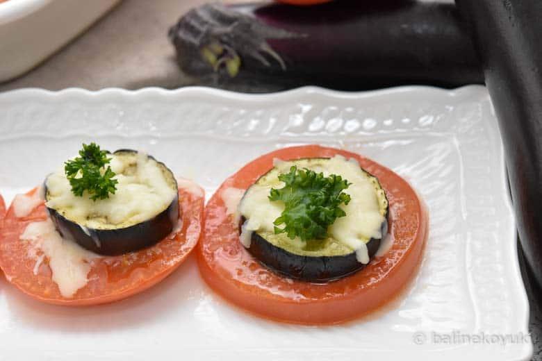 博多のトマトと博多なすのオーブン焼き