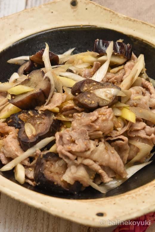 豚肉とナスの蒸しナムル