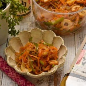 こんにゃくと彩り野菜のさっぱり炒め
