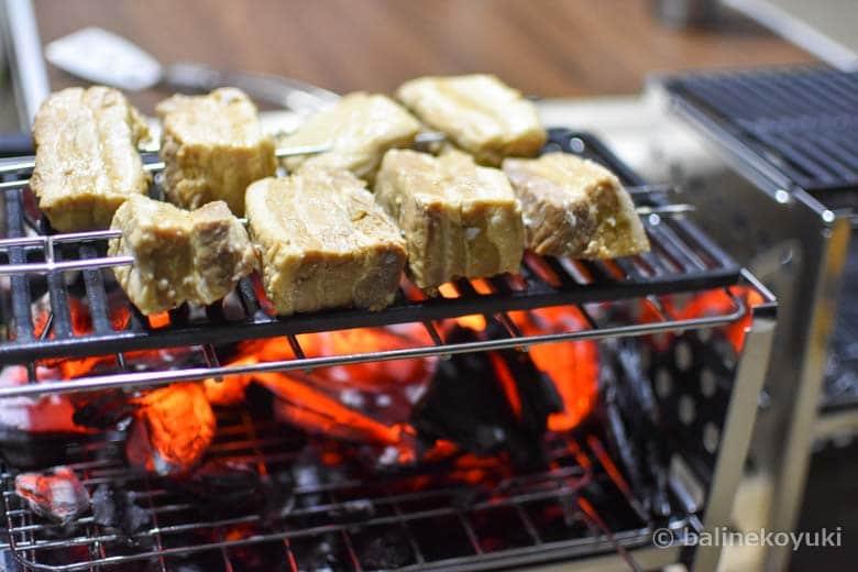豚バラ肉のグリル焼き