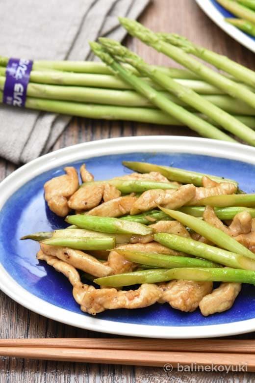 鶏むね肉とアスパラガスの中華炒め