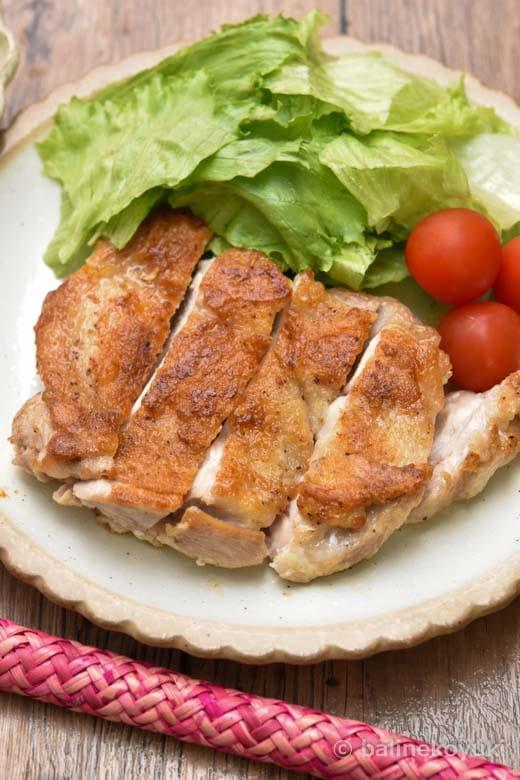 鶏もも肉のコリアンダー焼き