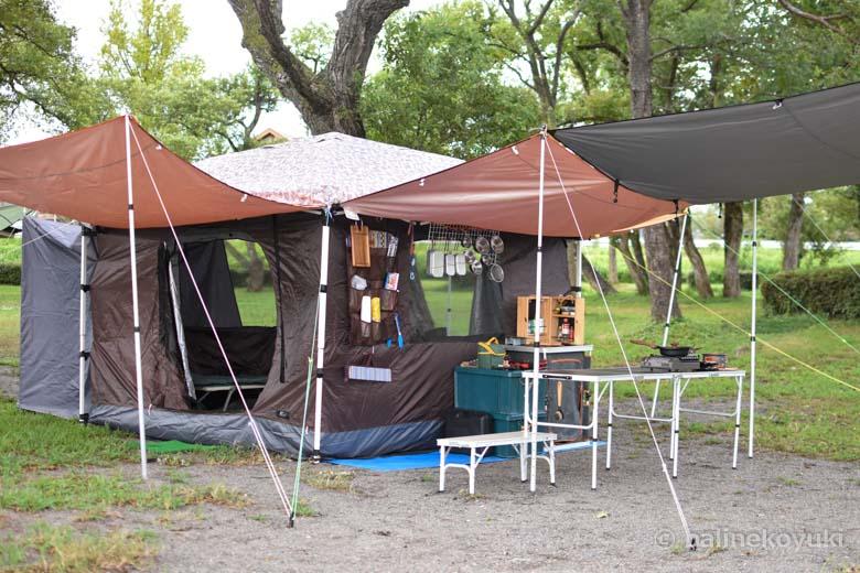 タープ型テント