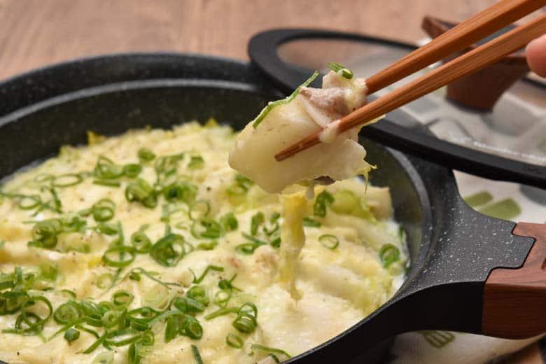 白菜と豚肉のミルフィーユミルク煮