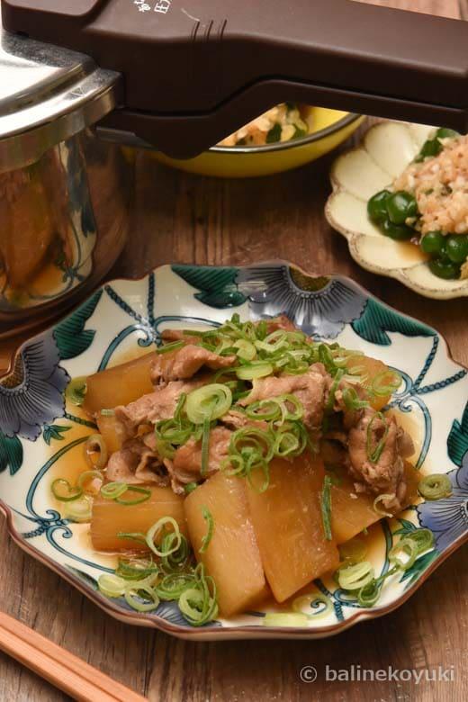 大根と豚肉の生姜煮