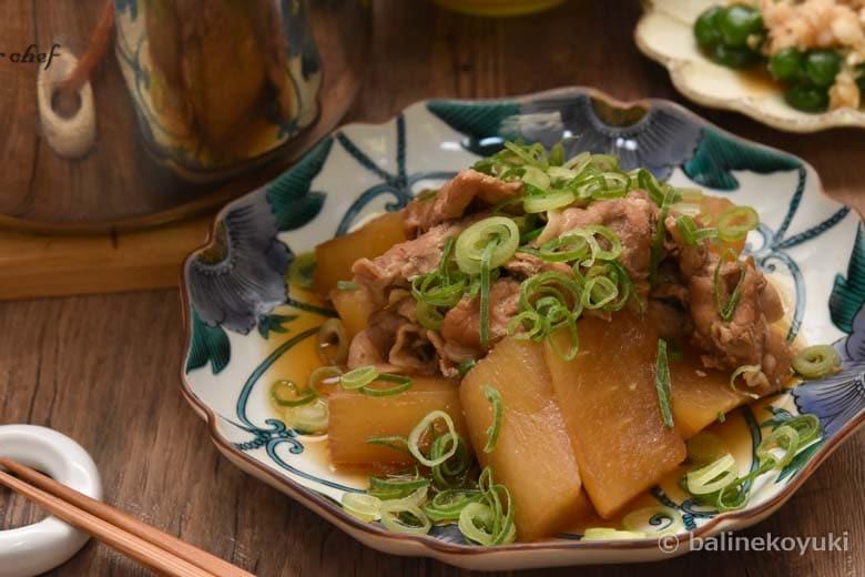 大根と豚肉のしょうが煮