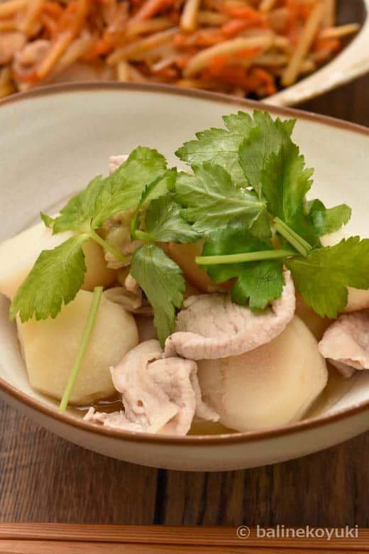 里芋と豚肉のあっさり煮