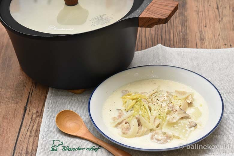 豚肉と白菜のクリームスープ煮