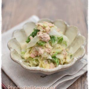 レンジで簡単|白菜とキャベツのたらマヨ蒸し|ちょっと副菜