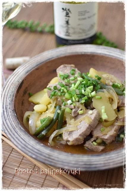 【日本ワインと和食】隠し味は味噌バタ-!日本ワインと楽しむ和風煮込み料理