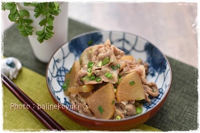 めんつゆで簡単!豚肉と大根の炒め煮|宮崎産日向夏梅酒カクテル
